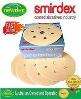 "Box 100pcs SANDING DISCS 80 GRIT SMIRDEX 150MM (6"") 7 HOLE SANDPAPER"
