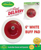 "WHITE BUFF PAD 6"" 150MM CUT AND POLISH PAD FOAM COMPOUNDING POLISHING AUTO"