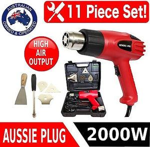 HEAT GUN 2000w ELECTRIC HANDHELD HOT AIR HEATING CRAFT DUAL SPEED TEMP KIT