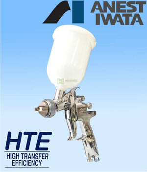IWATA AZ3 HTE2 2.0mm GRAVITY SPRAY GUN CLEARCOAT 2PAC BASECOAT PRIMER NEW HVLP
