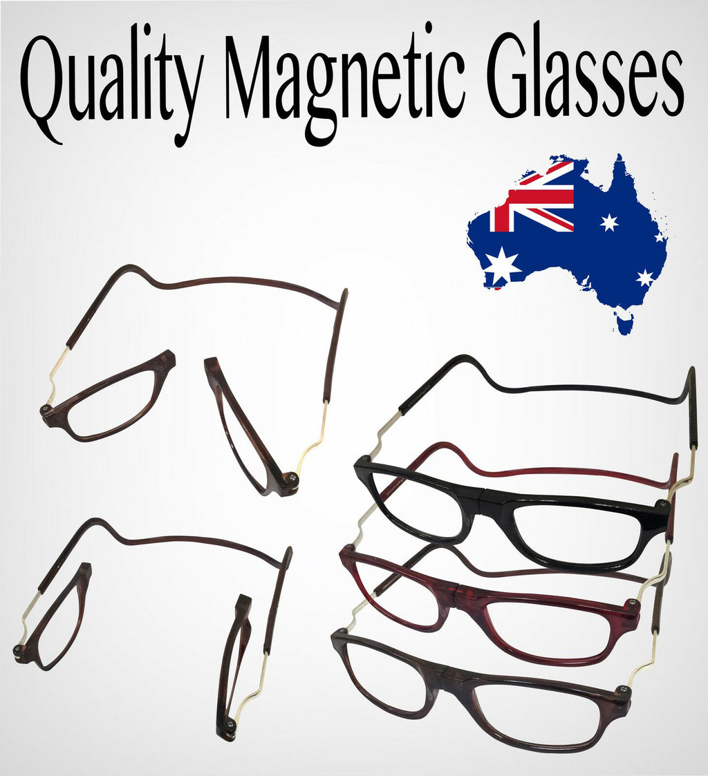 FRONT CONNECT MAGNETIC ADJUSTABLE READING GLASSES ANTI FATIGUE HANGING READER