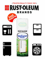 RUSTOLEUM APPLIANCE EPOXY SPRAY PAINT WHITE FRIDGE FREEZER STEEL DRYER MAGNET