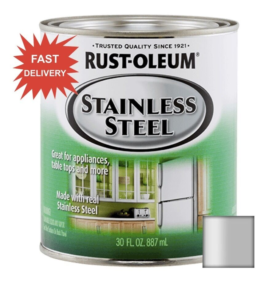 RUSTOLEUM STAINLESS STEEL PAINT .88L APPLIANCES REFRIGERATOR DISHWASHER DIY