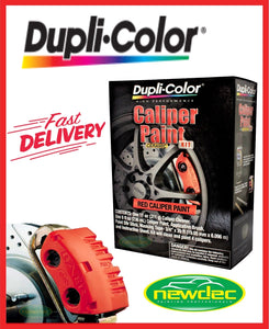 DUPLICOLOR RED BRAKE CALIPER KIT BCP400 HIGH HEAT PAINT RESTORATION DUPLI-COLOR