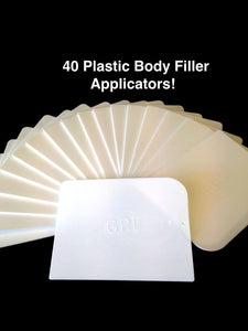 40 pcs PLASTIC BODY FILLER APPLICATORS auto applicator panel beater bog