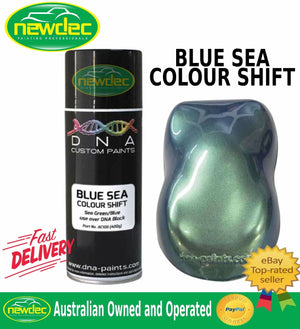 NEW BLUE SEA AEROSOL SPRAY CAN PAINT DNA COLOUR SHIFT TOUCH UP CAN FORD DIY AUTO