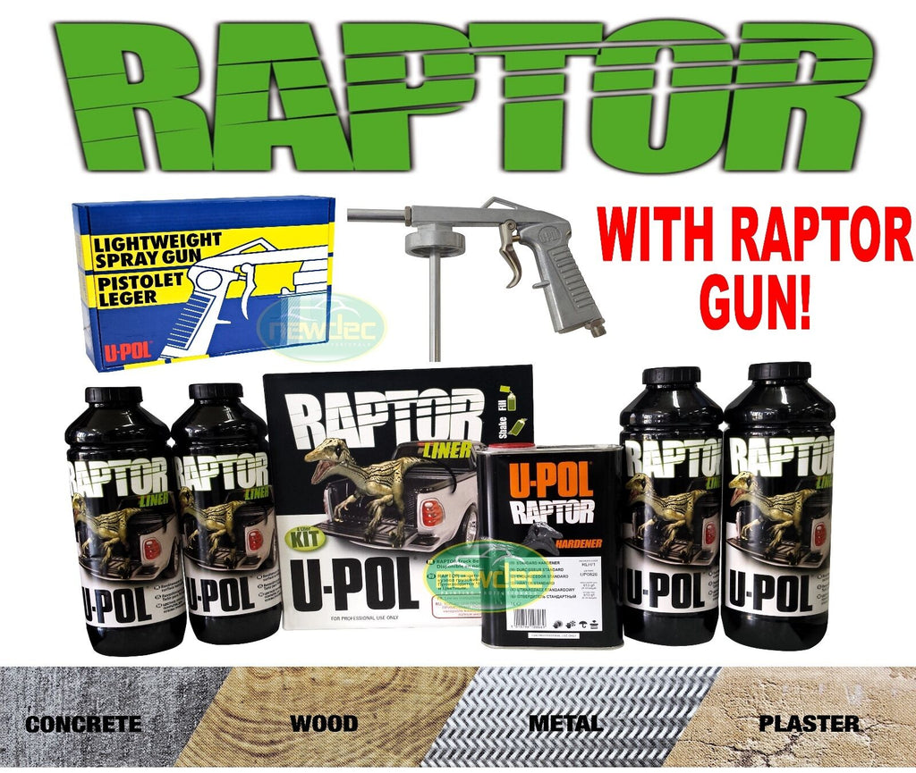 RAPTOR BY U-POL UPOL TINTABLE BED LINER KIT 2 PACK URETHANE COATING UTE TUB