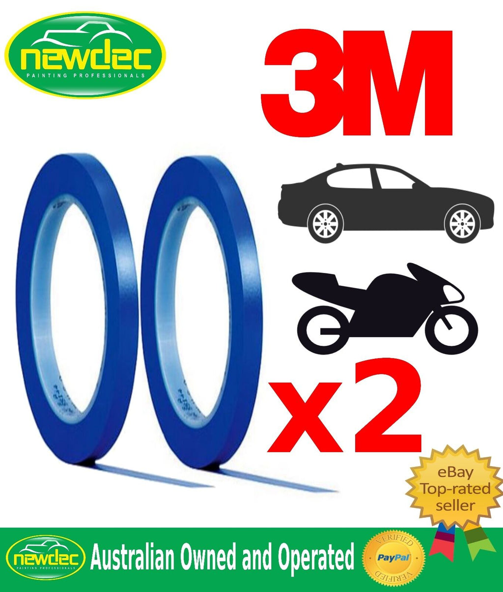 3M FINE LINE VINYL TAPE 3M 471 BLUE 6 MM X 33 METERS 2 ROLLS FOR EDGE PAINTING