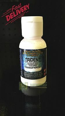 NEW TRIDENT AIRBRUSH METALLIC PAINT SET COLOURS DESIGN REDUCER WATERBASED AIR