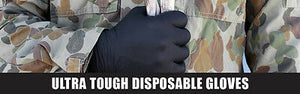 100 Pk DISPOSABLE MECHANIC GLOVES BLACK NITRILE GLOVE LARGE HEAVY DUTY AUTO