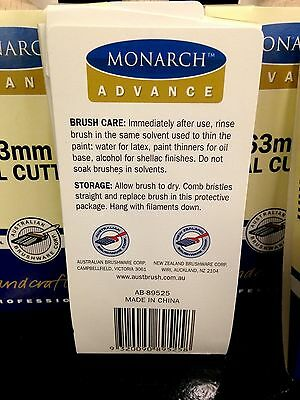 1 MONARCH PAINT BRUSH OVAL CUTTER 63MM