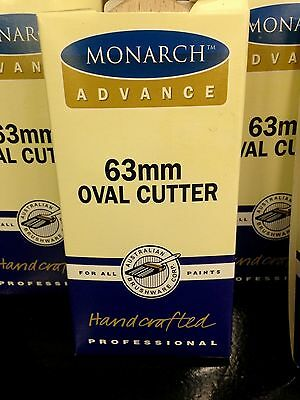 4 X MONARCH PAINT BRUSH / BRUSHES OVAL CUTTERS 63MM