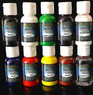 10 pcs TRU8 DNA TRIDENT 50ML X 8 AIRBRUSH PAINT 50ML REDUCER SPRAY WATERBASE