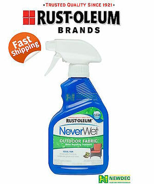 NEVERWET NEVER WET RUST-OLEUM 2 x OUTDOOR WATERPROOF FABRIC CLEAR COATING SPRAY