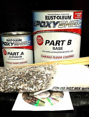 RUSTOLEUM EPOXYSHIELD GARAGE FLOOR PAINT COATING KIT TAN GLOSS CAR AUTO PAINT