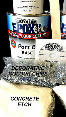 RUSTOLEUM EPOXYSHIELD GARAGE FLOOR PAINT COATING KIT GREY 2 1/2 CAR AUTO PAINT