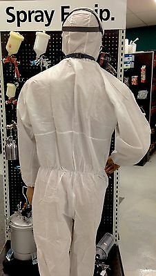 NEW! 2 x SPRAY SUIT LARGE X 2 DISPOSABLE BREATHABLE TRIPLE LAYER COVERALLS PAINT
