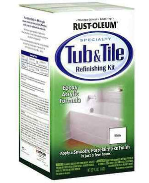 RUSTOLEUM TUB & TILE VALUE PACK WHITE REFINISHING BRUSH TILES BATH SINK PAINT