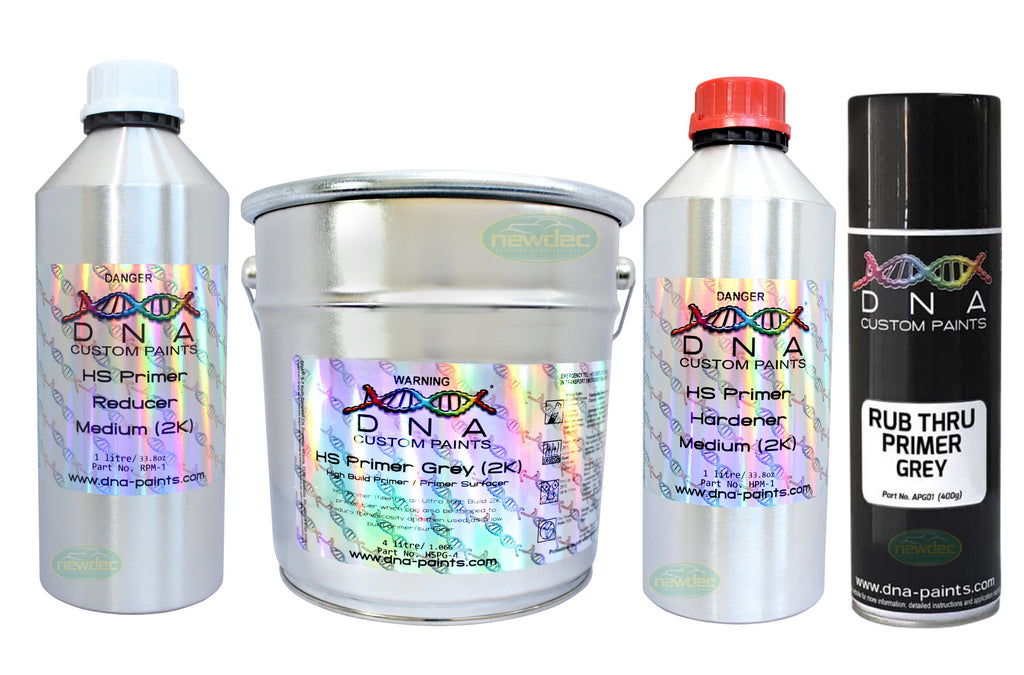 DNA HIGH SOLID PRIMER 6 LITRE KIT GREY 2PAC 2K FILLER SURFACER SYSTEM