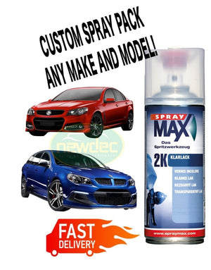 GLOSS BLACK 2K TOUCH UP PAINT SPRAY 400ml CAN ANY CAR CODE 2K SOLID OR BASE DIY