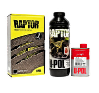 BLACK RAPTOR BY U-POL UPOL BED LINER KIT 2 PACK URETHANE COATING UTE TUB LINER