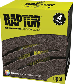 RAPTOR BY U-POL UPOL TINTABLE TO ANY COLOUR BED LINER
