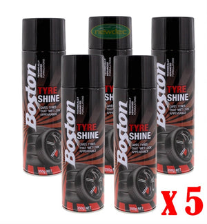 5X BOSTON TYRE SHINE CAR SPRAY WET LOOK