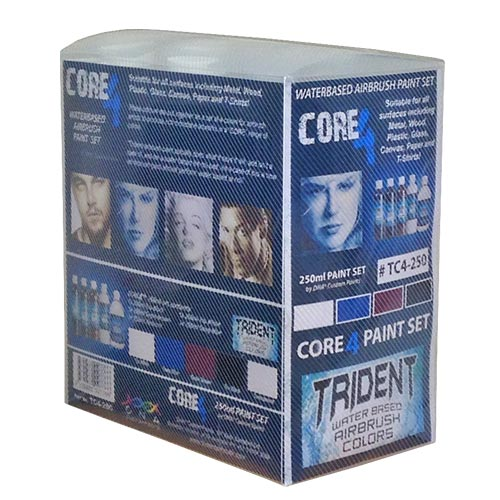 TRIDENT CORE 4 SET 250ML AIRBRUSH PAINT WATER BASED
