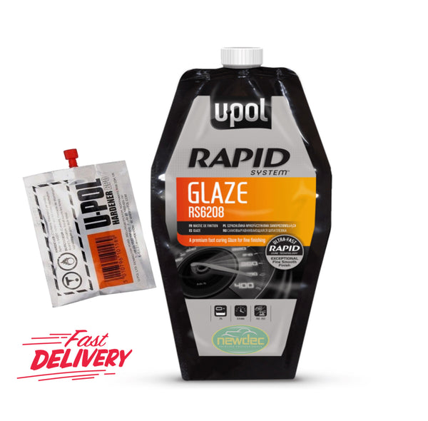 UPOL RAPID GLAZE NEW PREMIUM FILLER WITH HARDENER 880ML