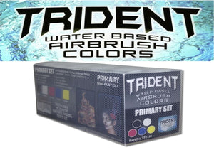 PRIMARY SET 10pcs DNA TRIDENT AIRBRUSH PAINT WATER BASED 50ML X 6
