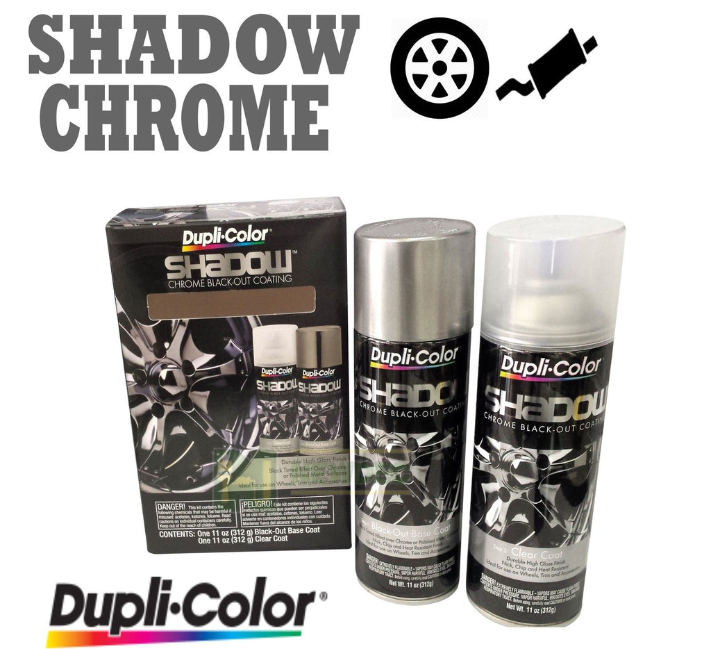 DUPLICOLOR SHADOW CHROME BLACK OUT KIT SHD1000 COATING PACK BRAKE RIMS