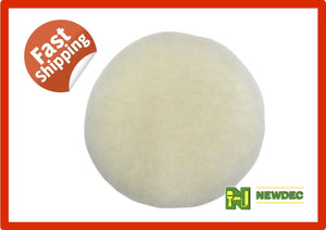 "BUFF PAD SHEEPSKIN 8"" 203MM AUSTRALIAN CUT BUFFER POLISHER WOOL AUTO CAR WAX"