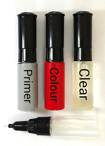 TOUCH UP PAINT KIT 3 x BOTTLES ALL CARS & MODELS BRUSH AND PEN YOUR COLOUR CODE