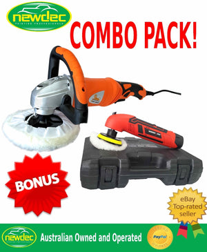 POLISHER CAR BUFFER 1400W 180MM SANDER ELECTRIC VARIABLE CORDLESS MINI TOOLS