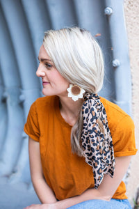 Lepord Scrunchie + Hair Tie - ShopBlondee
