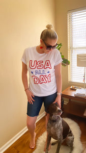 """USA ALL DAY"" T Shirt"