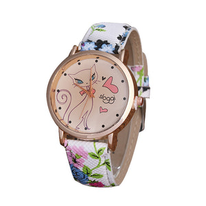 Fashion Cute Cartoon Cat Watch