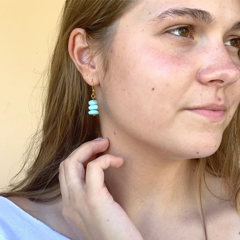 Larimar Stack Earrings