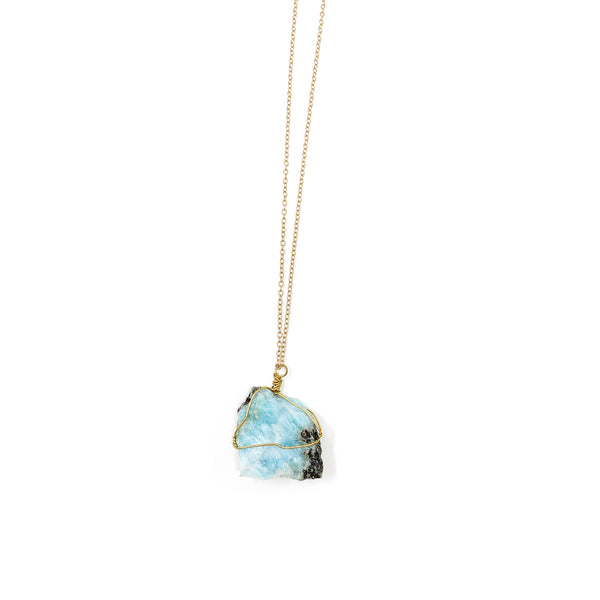 Raw Larimar Necklace