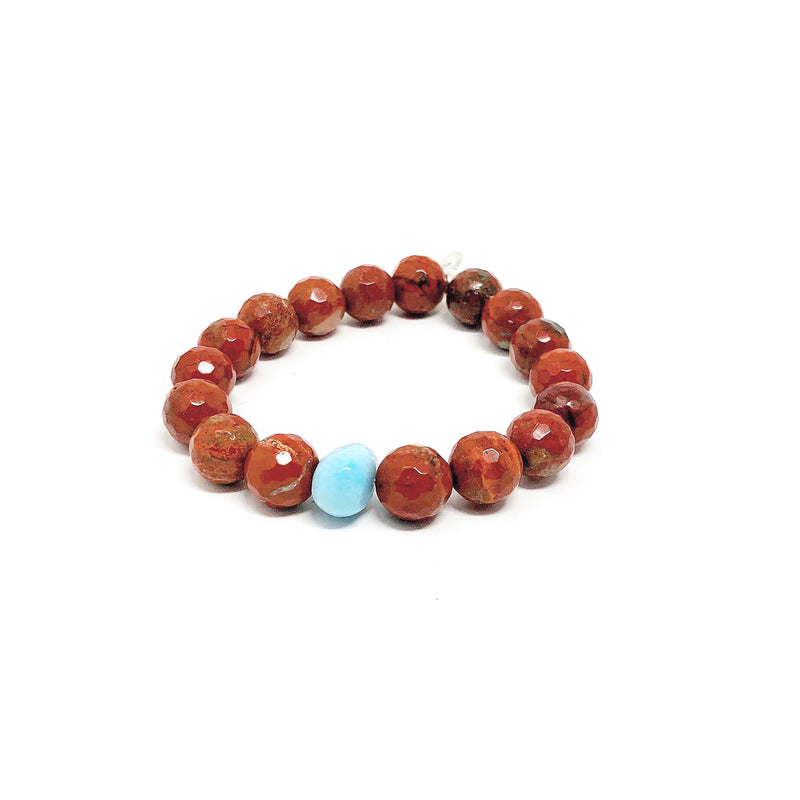 Hope Red Jasper Stretch Bracelet