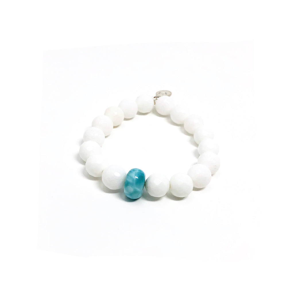 Hope White Jade Stretch Bracelet