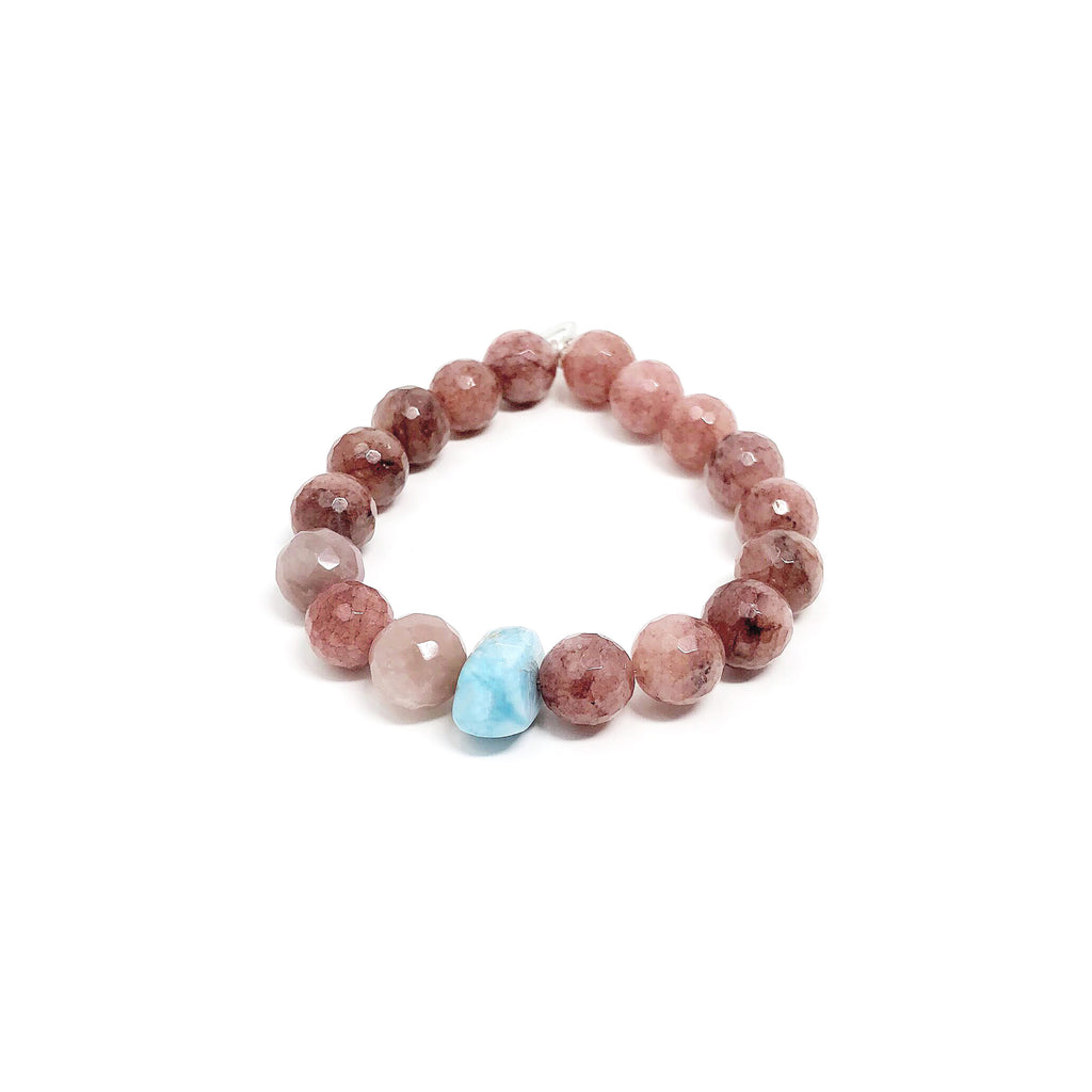 Hope Strawberry Quartz Bracelet