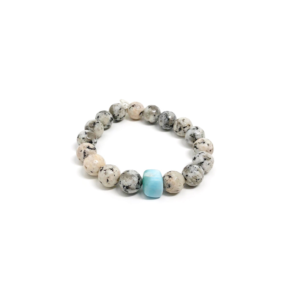 Hope Gray Spotted Jasper Stretch Bracelet