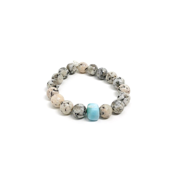Hope Gray Spotted Jasper Bracelet