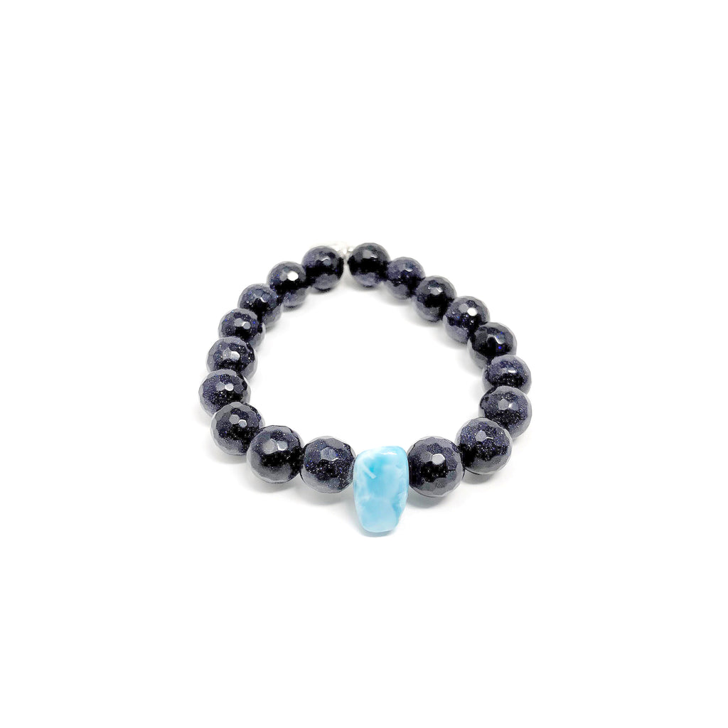 Hope Blue Goldstone Stretch Bracelet