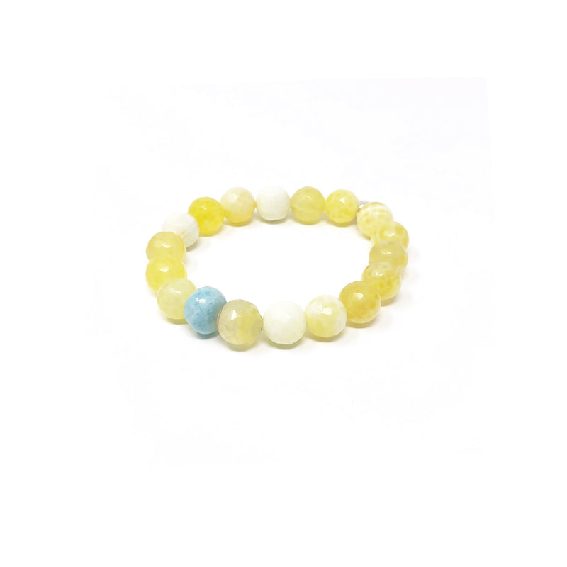 Hope Yellow Agate Stretch Bracelet