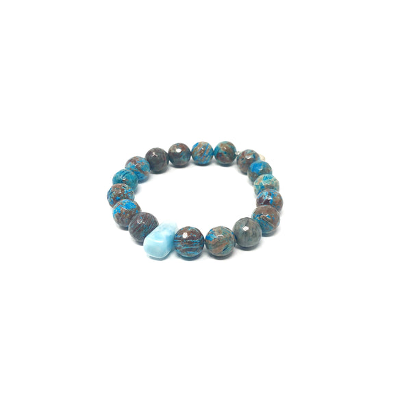 Hope Flower Agate Bracelet