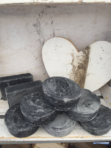 Hand Made Soap - Peppermint, Eucalyptus Tea Tree, Activated Charcoal
