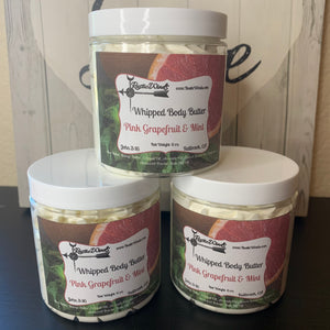 Whipped Body Butter - Pink Grapefruit & Mint 4 oz