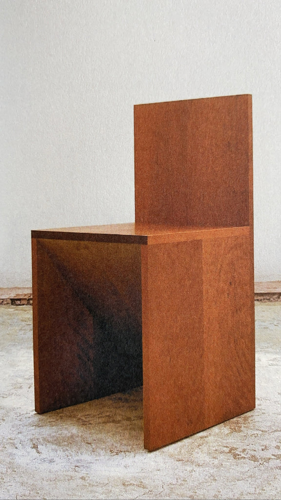 Forward Slant Chair by Donald Judd